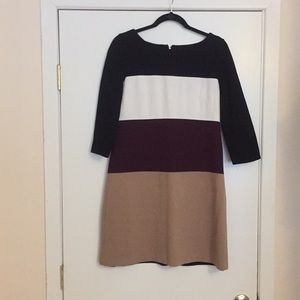 8 White House Black Market Color Block Dress